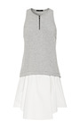 Heather Grey Italian Ponte Tank Dress by TIBI for Preorder on Moda Operandi