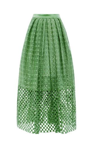 Medium tibi multi sonoran eyelet skirt