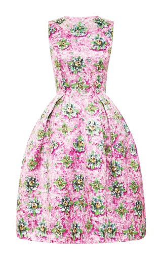 Embellished Satin Twill Printed Dress by MARY KATRANTZOU Now Available on Moda Operandi