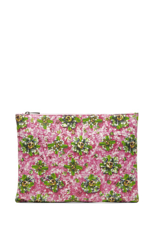 Floral Print Leather Clutch by MARY KATRANTZOU Now Available on Moda Operandi