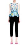Pompei Printed Satin Peplum Top by MARY KATRANTZOU Now Available on Moda Operandi