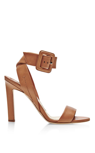 Medium brian atwood brown arizona ankle wrap leather sandals