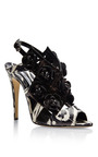 Eliza Floral Embellished Snakeskin Sandals by BRIAN ATWOOD Now Available on Moda Operandi