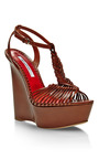 Akemi Braided Leather Platform Wedges by BRIAN ATWOOD Now Available on Moda Operandi