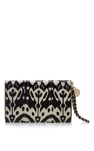 Medium brian atwood multi metal frame snakeskin clutch