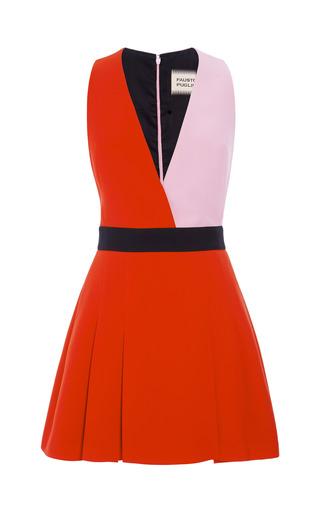 Medium fausto puglisi pink color block cady mini dress