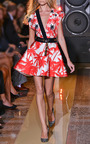 Palm Tree Print Twill Flare Skirt Dress by FAUSTO PUGLISI for Preorder on Moda Operandi