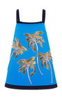 Embroidered Cady Trapeze Tank Dress by FAUSTO PUGLISI for Preorder on Moda Operandi