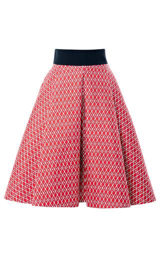 Medium fausto puglisi red san domenico america twill skirt