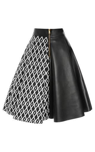 San Domenico America And Calf Leather Skirt by FAUSTO PUGLISI for Preorder on Moda Operandi