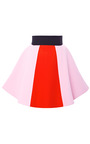 Pink Paneled Color Block Cady Mini Skirt by FAUSTO PUGLISI for Preorder on Moda Operandi