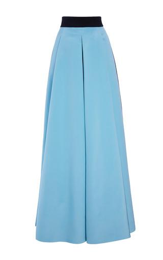 Medium fausto puglisi blue long color blocked cady skirt