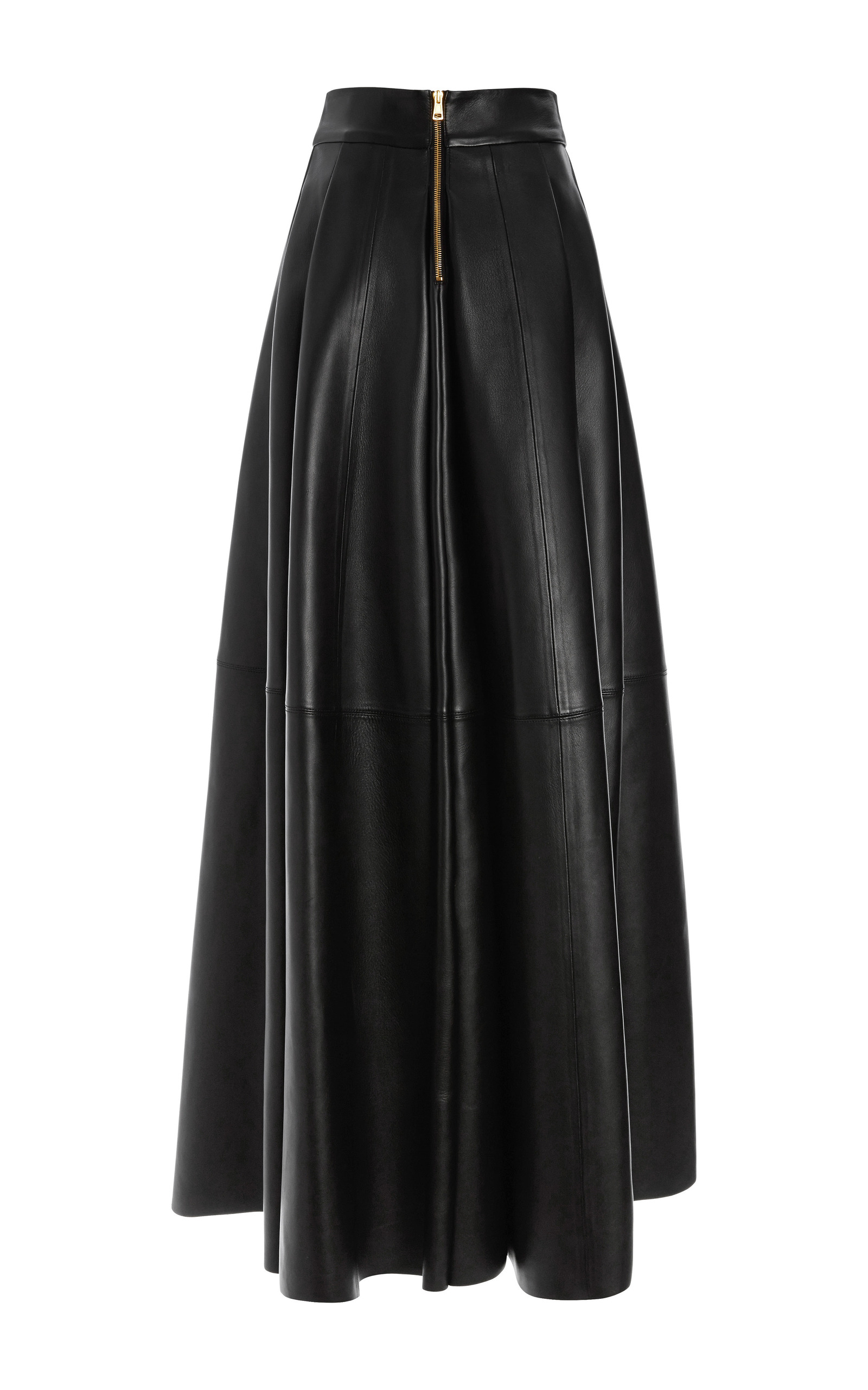 San Domenico Long Leather Skirt By Fausto Puglisi Moda