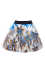 Palm Tree Embroidered Basket Skirt by FAUSTO PUGLISI for Preorder on Moda Operandi