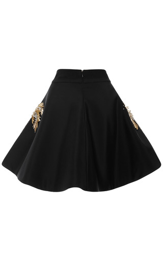 Embroidered Cady Skirt by FAUSTO PUGLISI for Preorder on Moda Operandi