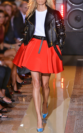 Pleated Cady Skirt by FAUSTO PUGLISI for Preorder on Moda Operandi