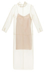 Midi Organza Dress With Collar And Satin Slip by BARBARA CASASOLA for Preorder on Moda Operandi