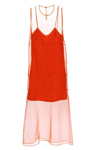 Organza Midi Dress With Washed Satin Slip by BARBARA CASASOLA for Preorder on Moda Operandi