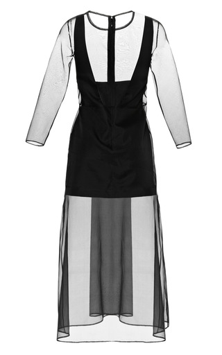 Midi Organza Dress With Cut Out Slip by BARBARA CASASOLA for Preorder on Moda Operandi