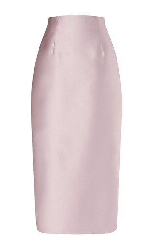 Laser Cut Double Sided Midi Skirt by BARBARA CASASOLA Now Available on Moda Operandi