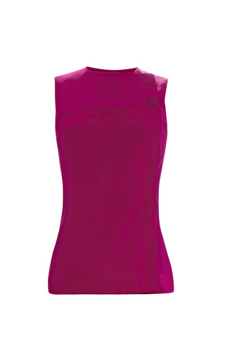 Medium barbara casasola red side button tank