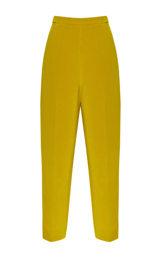 Medium barbara casasola yellow cady midi trousers