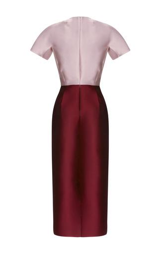 Two Tone Midi Dress With Pockets by BARBARA CASASOLA for Preorder on Moda Operandi