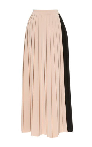 Medium barbara casasola black two tone cady midi pleated skirt 2