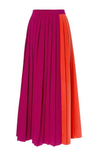 Medium barbara casasola coral two tone cady midi pleated skirt