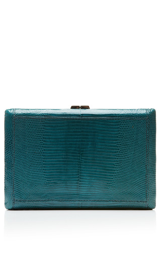 Medium vbh blue rectangle compact clutch in seychelles