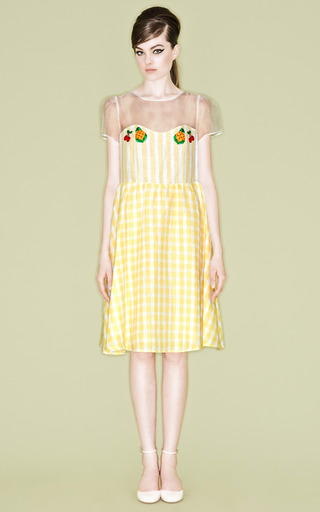 Molly Settam Check Dress by VIVETTA for Preorder on Moda Operandi