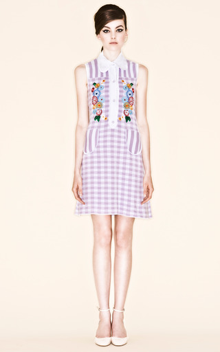 Lilac Picci Gingham Check Dress by VIVETTA for Preorder on Moda Operandi