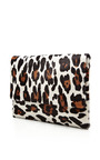 Leopard Printed Calf Hair Envelope Clutch by KULE Now Available on Moda Operandi