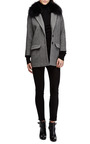 Herringbone Coat With Detachable Fox Fur Collar by KULE Now Available on Moda Operandi