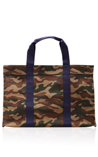 Medium vanities multi canvas camouflage tote bag