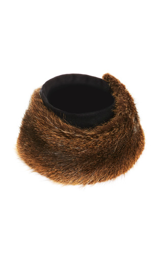 Fur And Wool Flannel Scarf by VANITIES Now Available on Moda Operandi