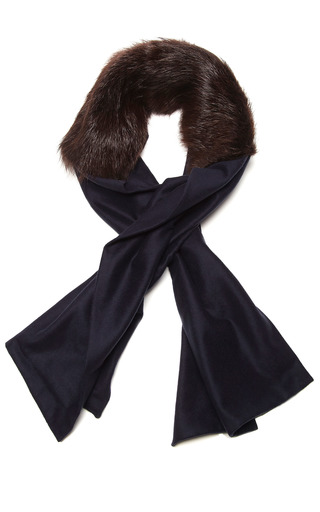 Long Fur And Cashmere Scarf by VANITIES Now Available on Moda Operandi