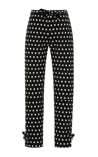 Medium vivetta black iulli cropped polka dot trousers