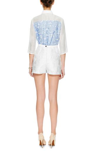 Leroy Embellished Linen Blend Shirt by VIVETTA Now Available on Moda Operandi