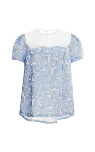 Medium vivetta blue willy jacquard baby doll top