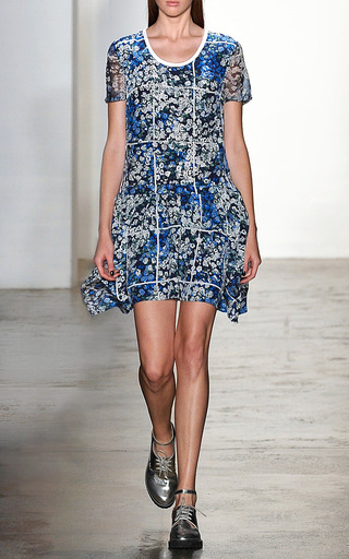 Floral Grid Annabelle Dress by TIMO WEILAND for Preorder on Moda Operandi