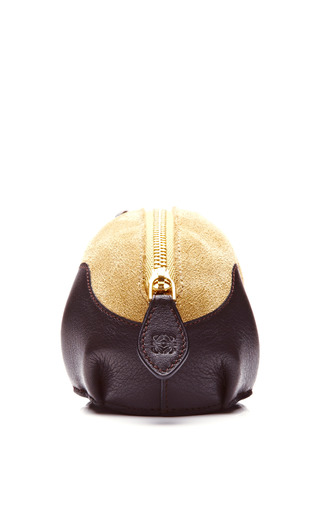 Leather And Suede Panda Coin Purse by LOEWE Now Available on Moda Operandi