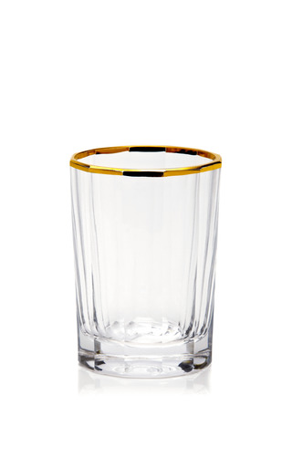 """4.5"""" Gold Trimmed Faceted Glass by OSCAR DE LA RENTA Now Available on Moda Operandi"""