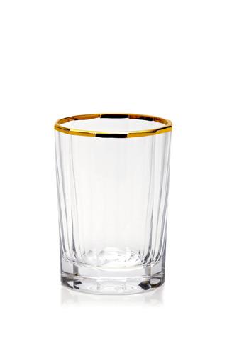 Medium oscar de la renta gold 45 gold trimmed faceted glass