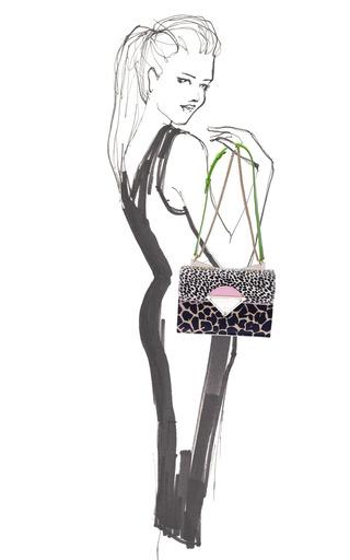 Monica Shoulder In Giraffe by SARA BATTAGLIA for Preorder on Moda Operandi