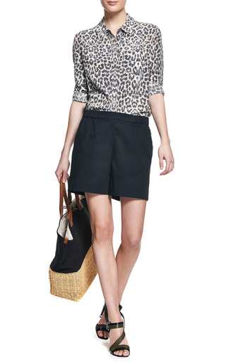Reese Leopard Print Shirt by EQUIPMENT Now Available on Moda Operandi