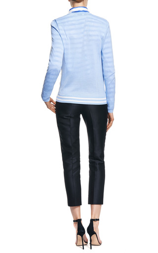 Roland Printed Silk Panel Pullover Wool Sweater by EQUIPMENT Now Available on Moda Operandi