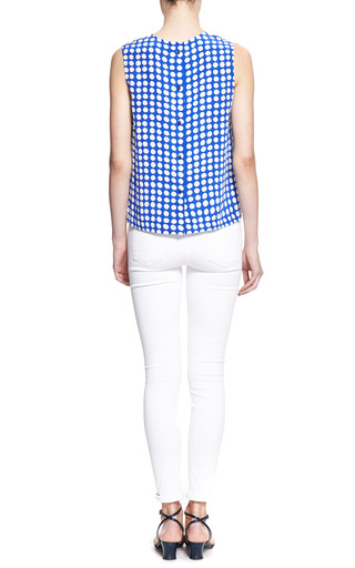 Reagan Dotted Silk Tank by EQUIPMENT Now Available on Moda Operandi