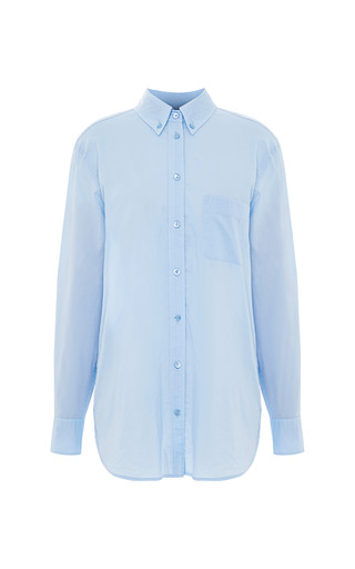 Medium equipment blue margaux cotton button down shirt