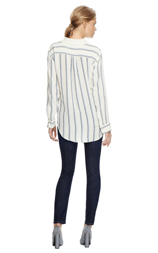 Knox Lace Up Silk Blouse by EQUIPMENT Now Available on Moda Operandi